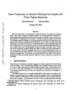 Giant Component in Random Multipartite Graphs with Given Degree ...