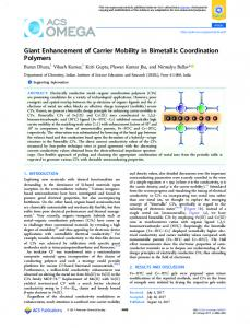 Giant Enhancement of Carrier Mobility in Bimetallic ... - ACS Publications