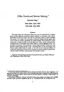 Giffen Goods and Market Making - UPF