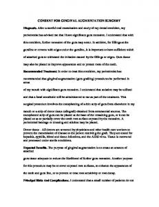 Gingival Augmentation Surgery Consent Form - Omni Dental Group