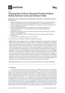 Ginseng Berry Extract Attenuates Dextran Sodium ... - Semantic Scholar