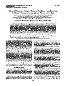 Ginseng Treatment Reduces Bacterial Load and Lung Pathology in ...