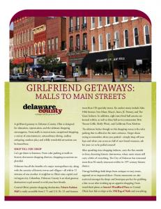 Girlfriend Getaways: Malls to Main Street