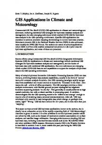GIS Applications in Climate and Meteorology - CiteSeerX