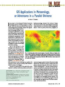 GIS Applications in Meteorology, or Adventures in a ... - AMS Journals