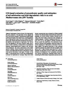GIS-based evaluation of groundwater quality and ...