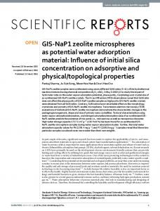 GIS-NaP1 zeolite microspheres as potential water
