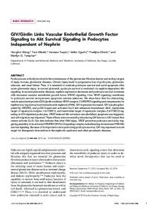 GIV/Girdin Links Vascular Endothelial Growth Factor Signaling to Akt ...