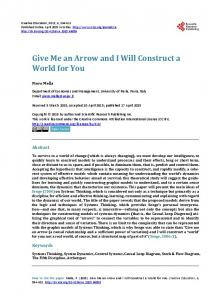 Give Me an Arrow and I Will Construct a World for You - Scientific ...