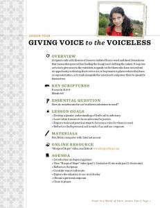 giving voice to the voiceless - World Vision