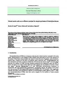 Glacial acetic acid as an efficient catalyst for simple ... - Growing Science