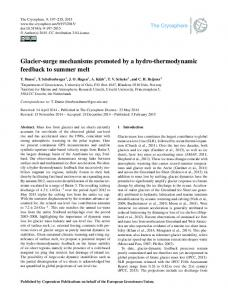 Glacier-surge mechanisms promoted by a hydro ... - The Cryosphere