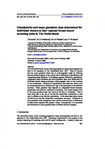 Glandularity and mean glandular dose determined for ... - Oncoline