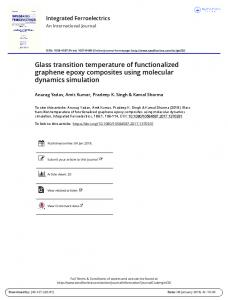 Glass transition temperature of functionalized