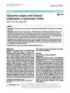 Glaucoma surgery and induced astigmatism: a ... - Eye and Vision