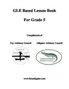 GLE Based Lesson Book For Grade 5