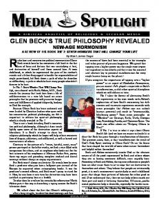 Glenn Beck's Philosophy Revealed - Media Spotlight