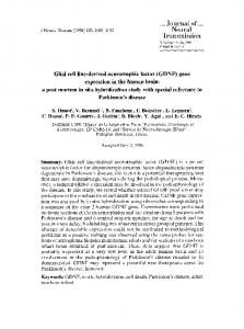 Glial cell line-derived neurotrophic factor (GDNF) gene ... - Springer Link