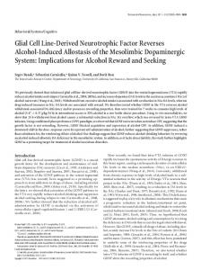 Glial Cell Line-Derived Neurotrophic Factor Reverses Alcohol-Induced ...