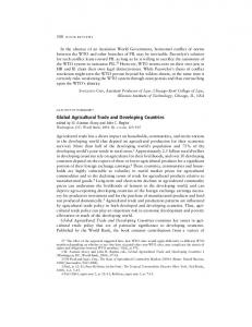 Global Agricultural Trade and Developing Countries - SSRN