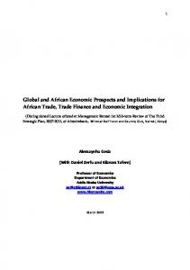 Global and African Economic Prospects and ...