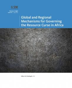 Global and Regional Mechanisms for Governing the Resource Curse ...
