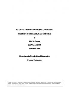 GLOBAL ANTITRUST PROSECUTIONS OF ... - AgEcon Search