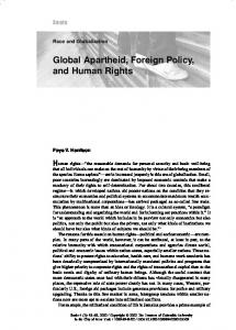 Global Apartheid, Foreign Policy, and Human Rights