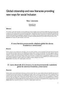 Global citizenship and new literacies providing new ways for ... - SciELO