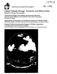 Global Climate Change: Economic and Policy Issues