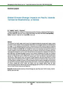 Global Climate Change Impacts on Pacific Islands ... - SAGE Journals