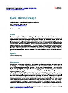 Global Climate Change - Scientific Research Publishing