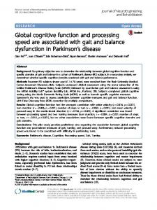 Global cognitive function and processing speed are associated ... - Core