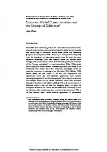 Global Constitutionalism and the Concept of Difference1 - SSRN papers