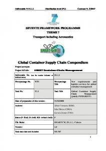 Global Container Supply Chain Compendium - Smart-CM