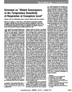 Global Convergence in the Temperature Sensitivity of
