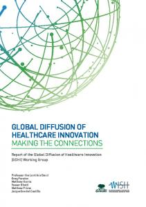 global diffusion of healthcare innovation making the connections