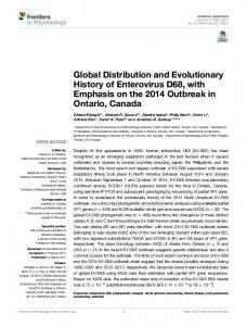 Global Distribution and Evolutionary History of Enterovirus D68 ... - Core