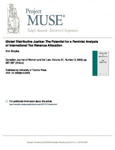 Global Distributive Justice: The Potential for a Feminist ... - SSRN papers