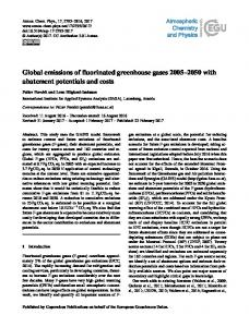 Global emissions of fluorinated greenhouse gases 2005 ... - IIASA PURE