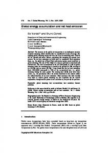 Global energy accumulation and net heat emission Bo Nordell* and ...
