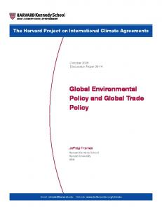 Global Environmental Policy and Global Trade Policy