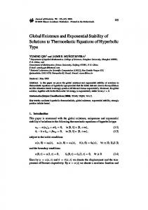 Global Existence and Exponential Stability of Solutions to ... - IM-UFRJ