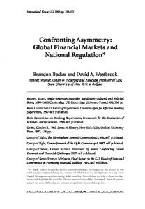 Global Financial Markets and National Regulation - Wiley Online Library