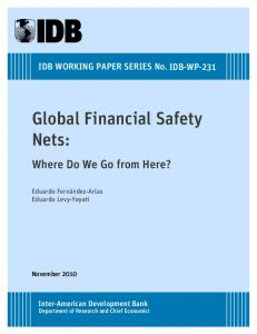 Global Financial Safety Nets - (SSRN) Papers