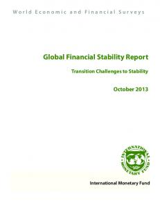Global Financial Stability Report - IMF