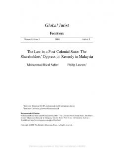 Global Jurist - SSRN papers