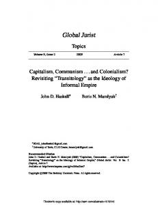 Global Jurist - (SSRN) Papers