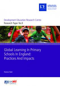 Global Learning In Primary Schools In England - UCL Discovery