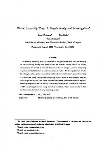 Global Liquidity Trap: A Simple Analytical ... - Banque de France